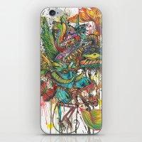 skeleton swimming iPhone & iPod Skin