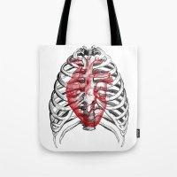Heart Bones Tote Bag