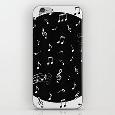 Music White and Black iPhone & iPod Skin