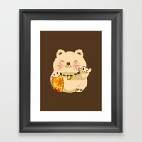 LUCKY SHAKA.v2 Framed Art Print