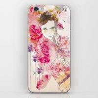 watercolor garden  iPhone & iPod Skin