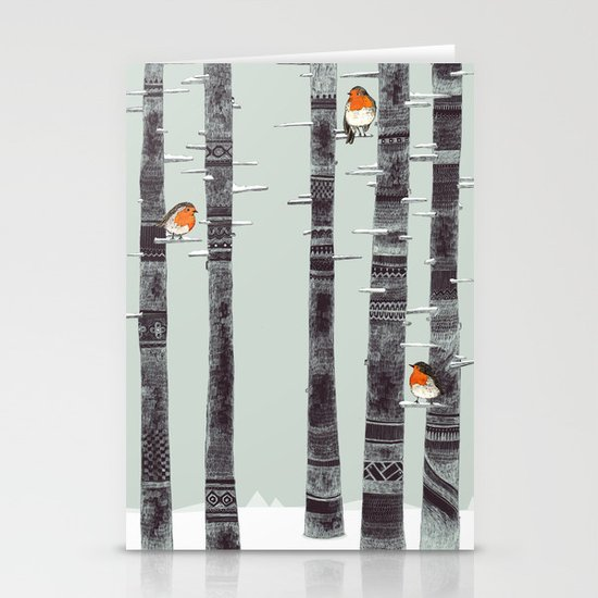 Robin Trees Stationery Card