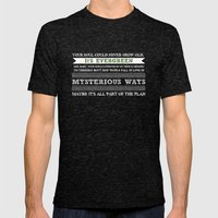 Evergreen Mens Fitted Tee Tri-Black SMALL