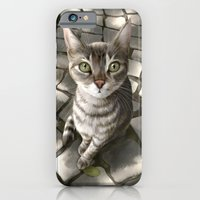 iPhone & iPod Case featuring A Cat That I Once Knew by Lily Art