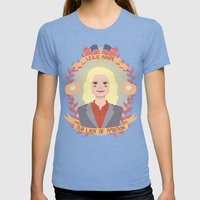 Leslie Knope Womens Fitted Tee Tri-Blue SMALL
