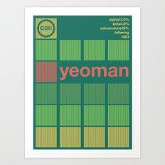 yeoman single hop Art Print