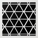 BLACK & WHITE TRIANGLES 2 Canvas Print