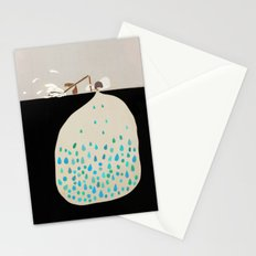 words of silence Stationery Cards