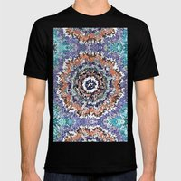 Colorful Abstract Circle… Mens Fitted Tee Black SMALL