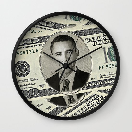 Mr President's Green Wall Clock