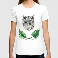 Monstera Womens Fitted Tee White SMALL