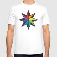 Geometric Star #2 - To W… Mens Fitted Tee White SMALL
