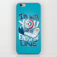 Till the end of the line iPhone & iPod Skin