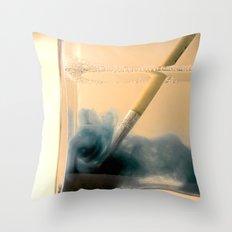 Paint Brush Wash Up Throw Pillow