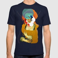 Peter Paul Rubens Pop Portrait Mens Fitted Tee Navy SMALL