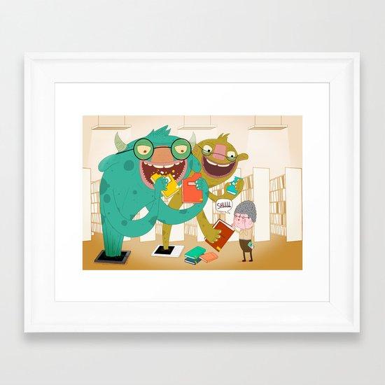 E-book monsters! Framed Art Print