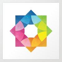 Blending Logo Art Print