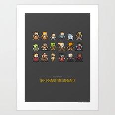 Mega Star Wars: Episode I - The Phantom Menace Art Print