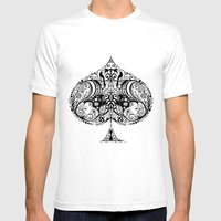Spade Mens Fitted Tee White SMALL