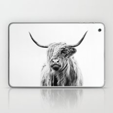 portrait of a highland cow Laptop & iPad Skin