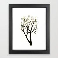 WHITE TREE Framed Art Print