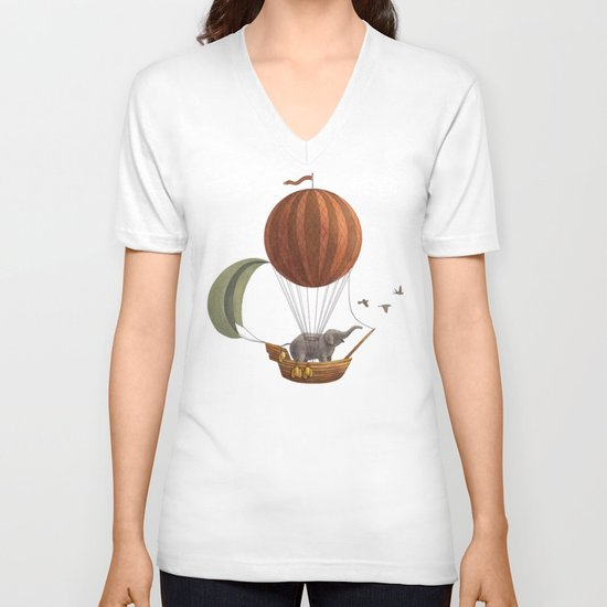Adventure Awaits  V-neck T-shirt
