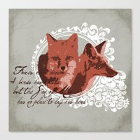 Foxes Have Dens Canvas Print