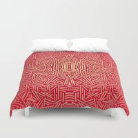 Radiate (Red Yellow Ochr… Duvet Cover