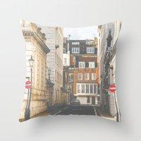 Vintage London Throw Pillow