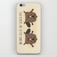 Two Beavers Are Better Than One iPhone & iPod Skin