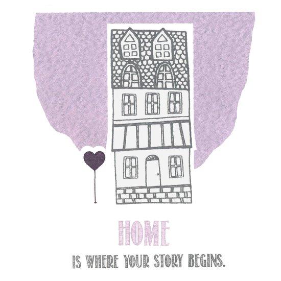 Home.. Art Print