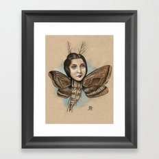 MOTH LADY Framed Art Print