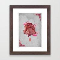 Red Darth Framed Art Print