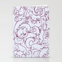 Fox Pattern Screen Print Stationery Cards