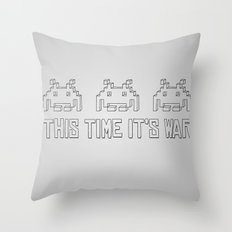This Time It's War Throw Pillow