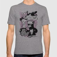 CatFish Mens Fitted Tee Athletic Grey SMALL