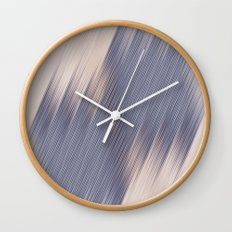Purple lines Wall Clock