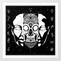 What hides beneath the mask Art Print