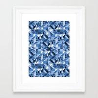 Aztec Geometric V Framed Art Print