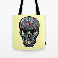 Aztec Skull Tote Bag