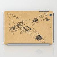 Airplane diagram iPad Case