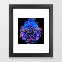 Liquid Neon Framed Art Print
