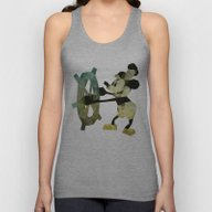 Mickey Mouse As Steamboa… Unisex Tank Top