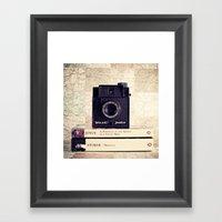 Vintage Black Camera And… Framed Art Print