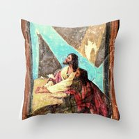 double jesus Throw Pillow