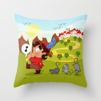 The Pied Piper of Hamelin  Throw Pillow