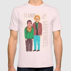 Simon & Garfunkel Mens Fitted Tee Light Pink SMALL