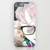 iPhone & iPod Case featuring Portrait in flowers by Super Urban