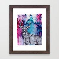 Oh my 'deer' Framed Art Print
