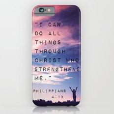 Philippians 4:13 in Nature iPhone 6 Slim Case